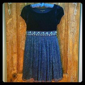 Blue Dress with aquamarine accents
